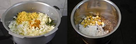 prepare cabbage kootu