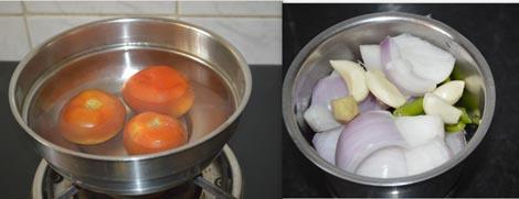 preparing moong dal gravy