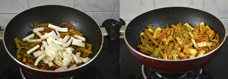 paneer vegetable jalfrezi