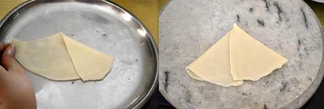 preparing samosa
