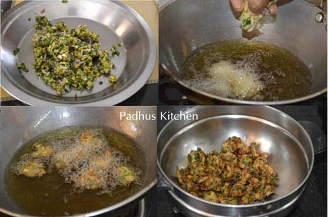 palak pakora-spinach fritters-spinach pakora