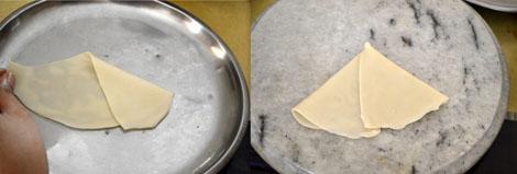 making samosa