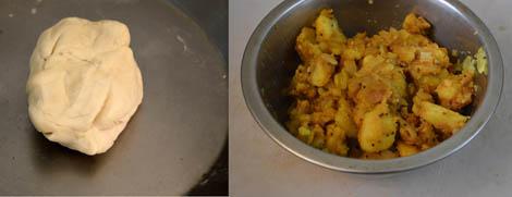 samosa dough and potato filling