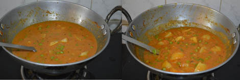How to make Aloo matar masala