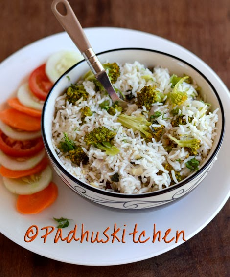 Broccoli Rice Recipe Easy Broccoli Pulao Indian Broccoli Recipes Padhuskitchen