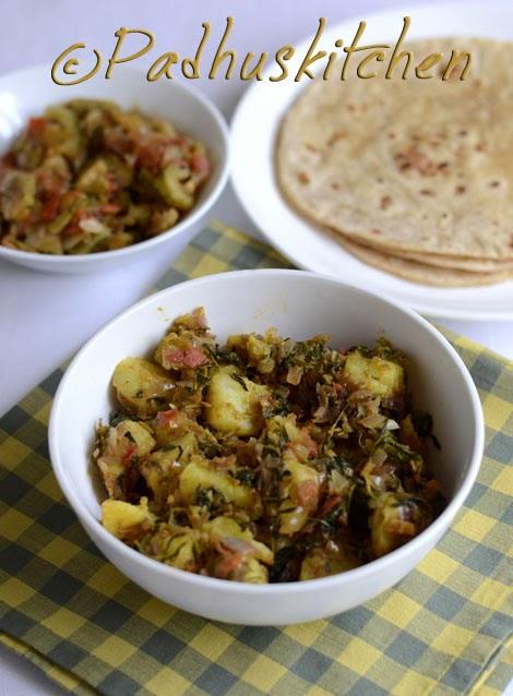 Aloo methi sabzi-Aloo methi curry