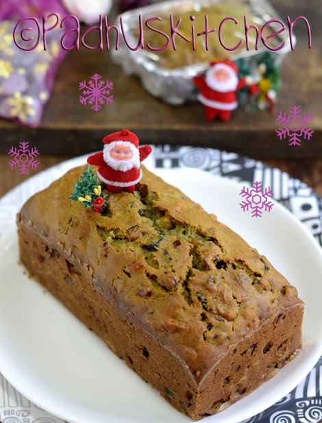 Christmas Fruit Cake without alcohol