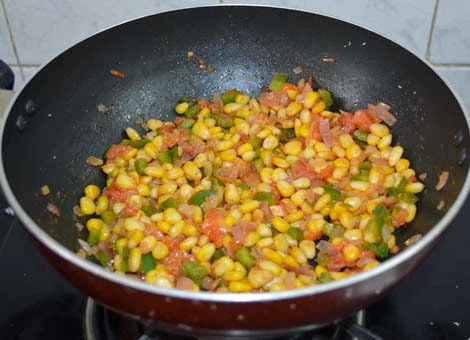 corn capsicum filling for sandwich