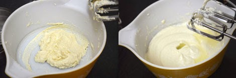 beating butter and sugar for cupcake