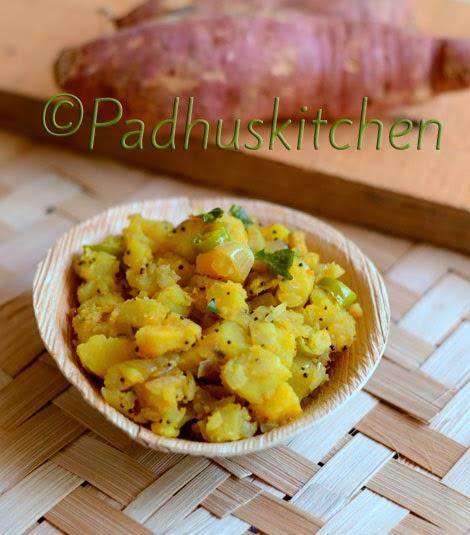 Sweet Potato Curry-Sakkarai Valli Kizhangu Poriyal