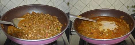 Kadala curry for appam, puttu