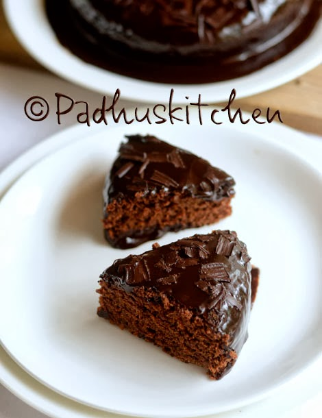 Eggless Whole Wheat,finger millet Chocolate Cake