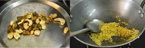 preparing Thinai Payasam