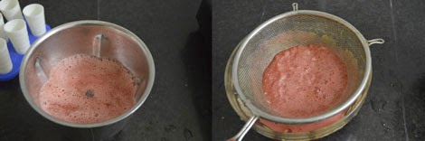 preparing watermelon juice