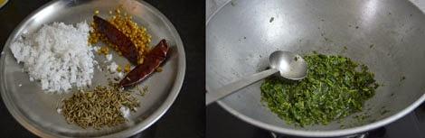 how to make keerai molagootal