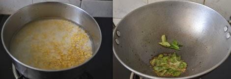 preparation for dal rice