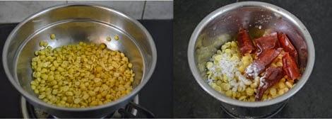 preparation for Paruppu Urundai Mor Kuzhambu