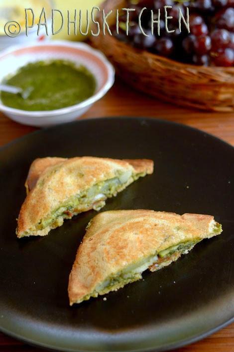 Bombay Vegetable Sandwich Toast