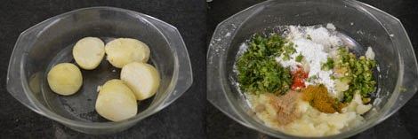 ingredients for aloo tikki