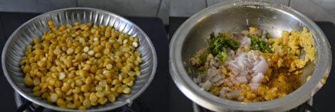 preparation for Chana Dal Paratha
