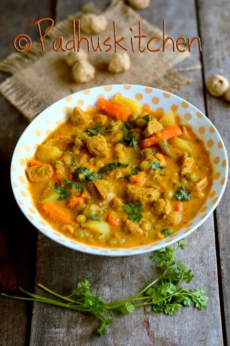 Soya Chunks Kurma-Meal Maker Kurma