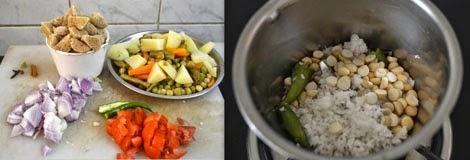 preparation for soya chunks kurma