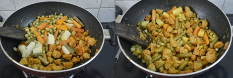 soya chunks vegetable kurma