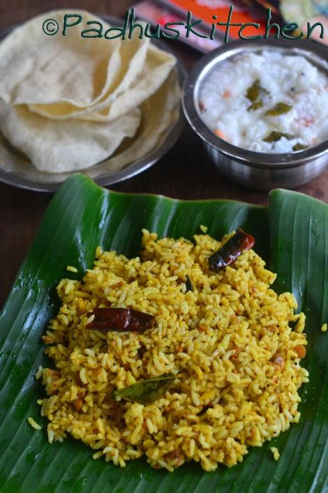 Tamarind rice-puliyodharai