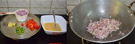 preparations for egg bhurji