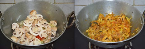mushroom cabbage stir fry