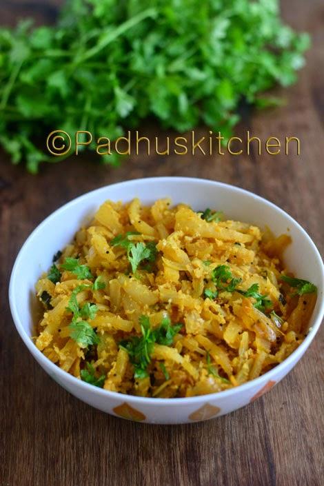 Mullangi Poriyal-Radish Curry-Mooli Sabzi