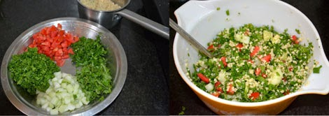 Tabbouleh salad with Bulgur