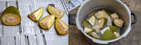 how to clean raw jackfruit