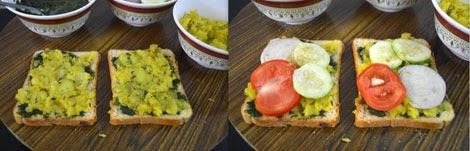 Mumbai style masala toast