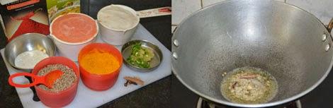 preparation for paneer kofta gravy