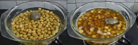 chana soaked with tea bags