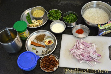 ingredients needed for egg biryani