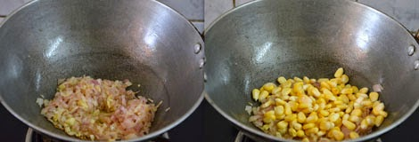 sauteing corn