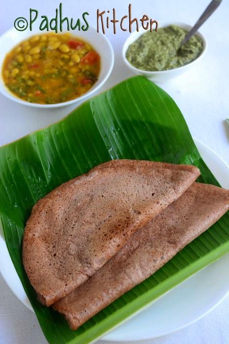 Red Rice Dosa-Sivappu Arisi Dosai