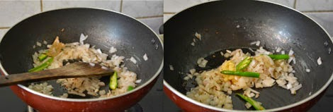 sauteing onion,ginger and garlic