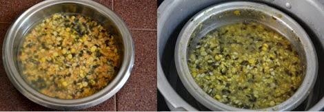 pressure cooking panchratna dal