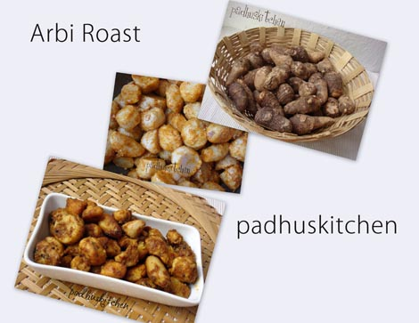 Arbi roast-seppankizhangu roast-Taro root fry