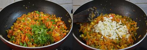 How to make veg masala sandwich