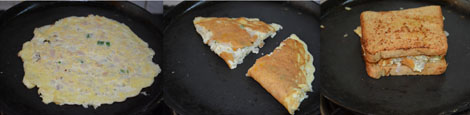 Cheesy Bread Omelet