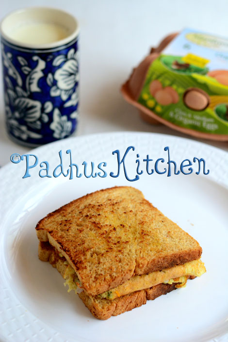 Omelette Sandwich Recipe-Cheesy Bread Omelet Recipe