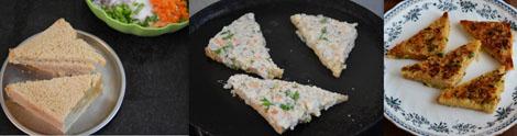 how to make rava/sooji bread toast