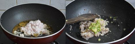 sauteing onion paste