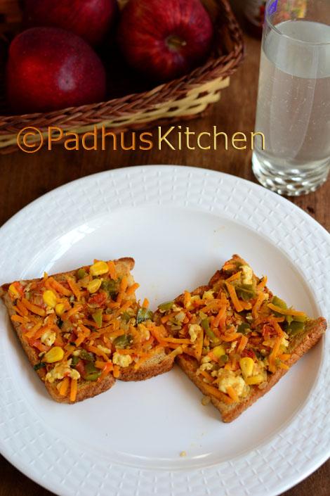 Vegetable Paneer Masala Toast Sandwich