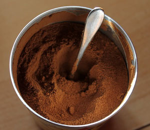 storing coffee powder