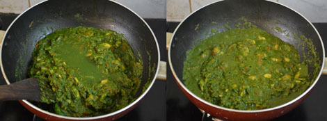 how to prepare Spinach Mushroom gravy/curry